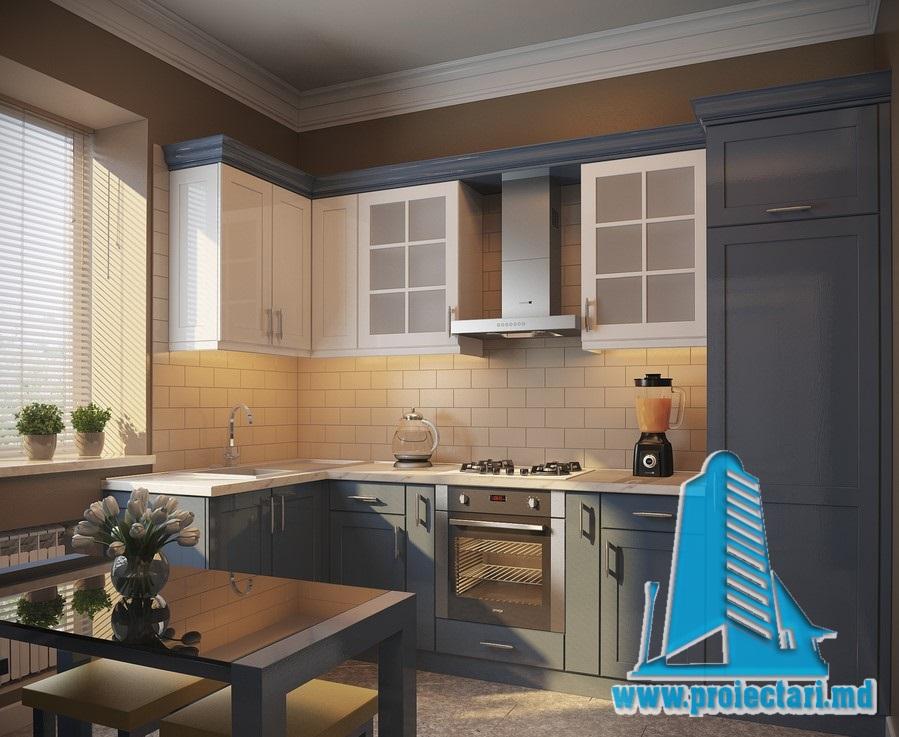 design bucatarie cu mobila corp