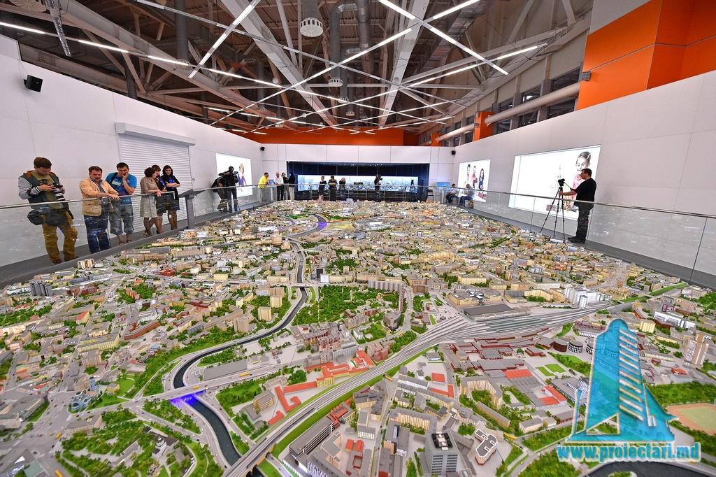 macheta arhitecturala prezentare urbana oras